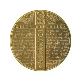 Zlatá mince 10000 Kč 2015 Jan Hus proof
