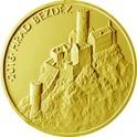 Zlatá mince 5000 Kč 2016 Hrad Bezděz proof