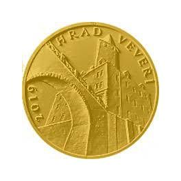 Předplatné Zlatá mince 5000 Kč 2019 hrad Veveří Proof